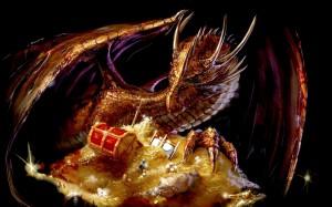 Dragon Guarding Gold
